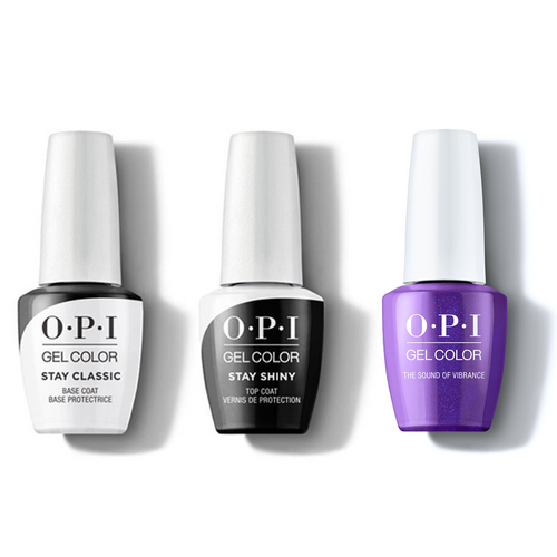 OPI - GelColor Combo - Stay Classic Base, Shiny Top & The Sound of Vibrance