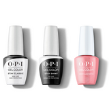 OPI - GelColor Combo - Stay Classic Base, Shiny Top & Snowfalling For You