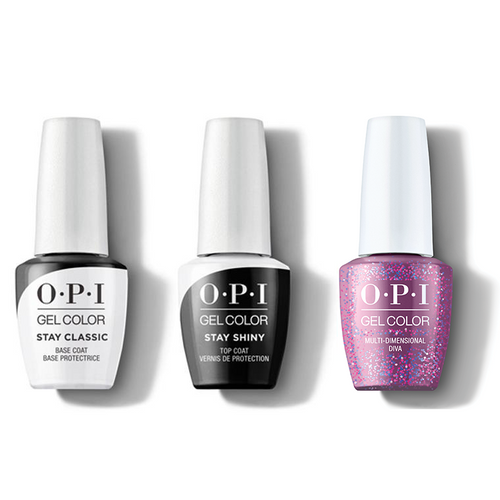 OPI - GelColor Combo - Stay Classic Base, Shiny Top & Multi-Dimensional Diva