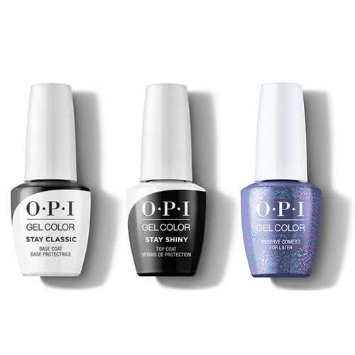 OPI - GelColor Combo - Stay Classic Base, Shiny Top & Reserve Comets For Later