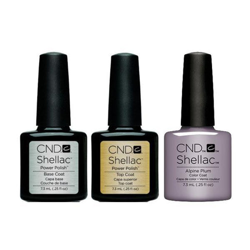 CND - Shellac Combo - Base, Top & Alpine Plum-Beyond Polish