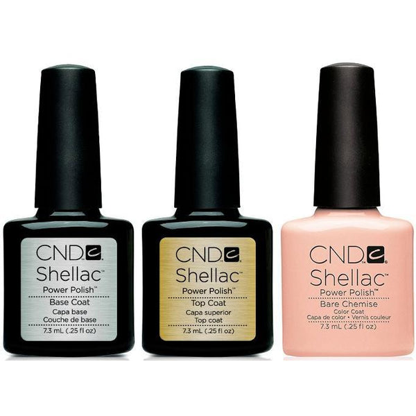CND - Shellac Combo - Base, Top & Bare Chemise-Beyond Polish