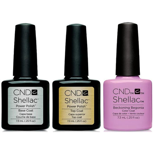 CND - Shellac Combo - Base, Top & Beckoning Begonia-Beyond Polish