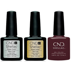 CND - Shellac Combo - Base, Top & Black Cherry-Beyond Polish