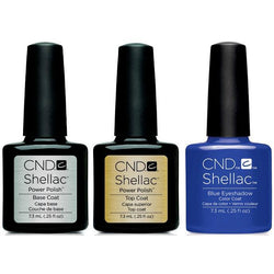 CND - Shellac Combo - Base, Top & Blue Eyeshadow-Beyond Polish