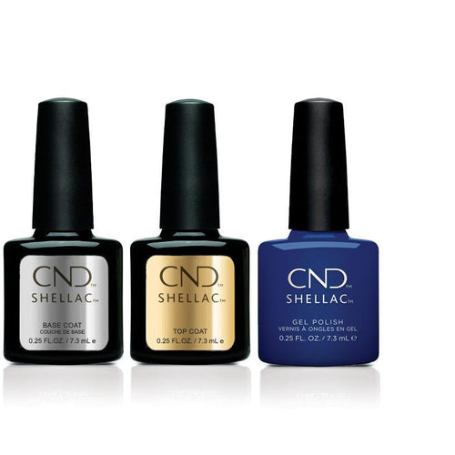 CND - Shellac Combo - Base, Top & Blue Moon-Beyond Polish
