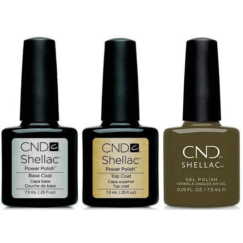 CND - Shellac Combo - Base, Top & Cap & Gown-Beyond Polish