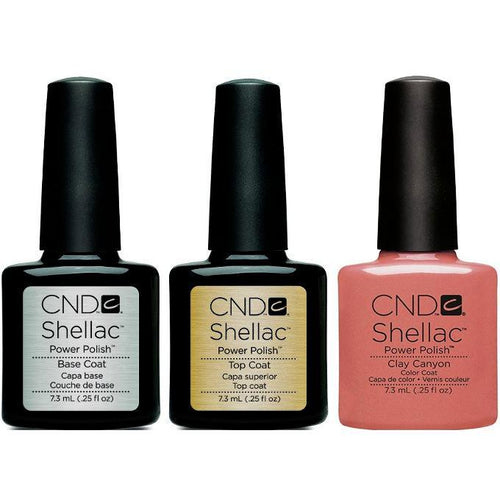 CND - Shellac Combo - Base, Top & Clay Canyon-Beyond Polish