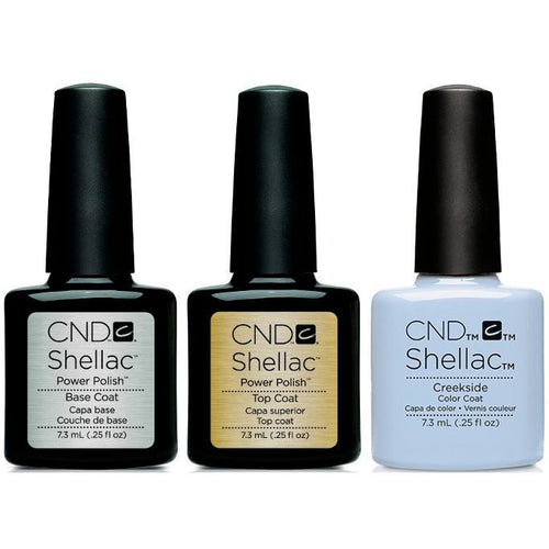 CND - Shellac Combo - Base, Top & Creekside-Beyond Polish
