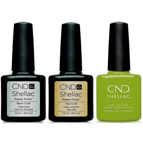 CND - Shellac Combo - Base, Top & Crisp Green-Beyond Polish