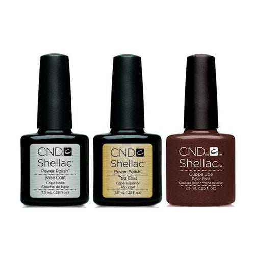CND - Shellac Combo - Base, Top & Cuppa Joe-Beyond Polish