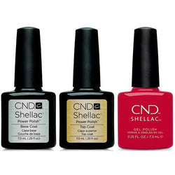 CND - Shellac Combo - Base, Top & First Love-Beyond Polish