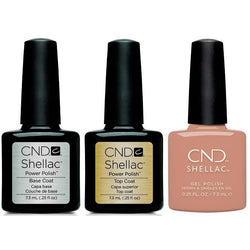 CND - Shellac Combo - Base, Top & Flowerbed Folly-Beyond Polish