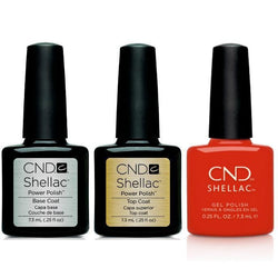 CND - Shellac Combo - Base, Top & Hot Or Knot-Beyond Polish