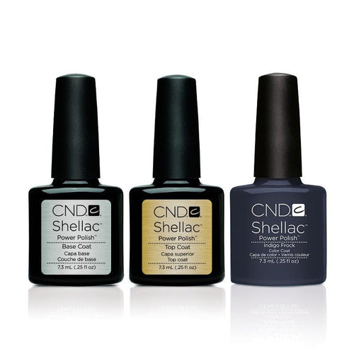 CND - Shellac Combo - Base, Top & Indigo Frock-Beyond Polish