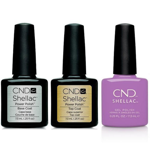 CND - Shellac Combo - Base, Top & It's Now Oar Never-Beyond Polish
