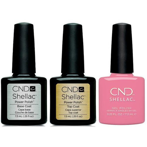 CND - Shellac Combo - Base, Top & Kiss From A Rose-Beyond Polish