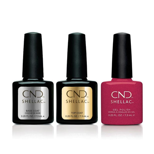 CND - Shellac Combo - Base, Top & Kiss of Fire-Beyond Polish
