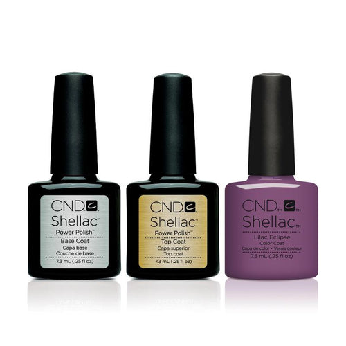 CND - Shellac Combo - Base, Top & Lilac Eclipse-Beyond Polish