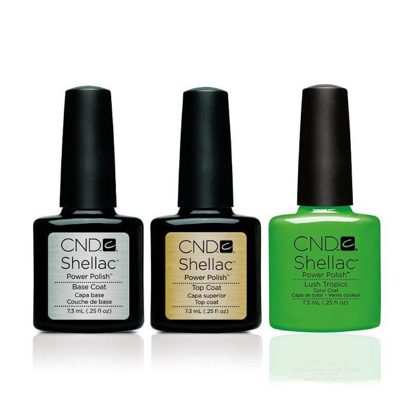 CND - Shellac Combo - Base, Top & Lush Tropics-Beyond Polish