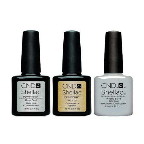 CND - Shellac Combo - Base, Top & Mystic Slate-Beyond Polish