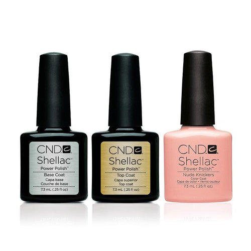 CND - Shellac Combo - Base, Top & Nude Knickers-Beyond Polish