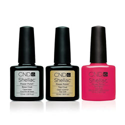 CND - Shellac Combo - Base, Top & Pink Bikini-Beyond Polish