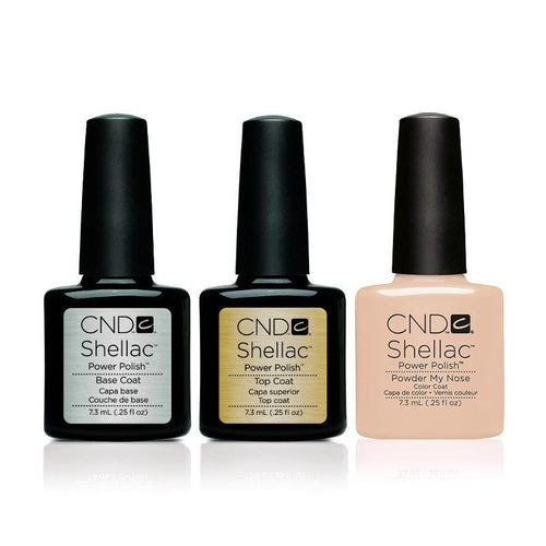 CND - Shellac Combo - Base, Top & Powder My Nose-Beyond Polish