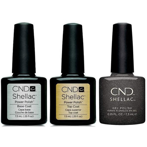 CND - Shellac Combo - Base, Top & Powerful Hematite-Beyond Polish