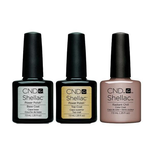 CND - Shellac Combo - Base, Top & Radiant Chill-Beyond Polish