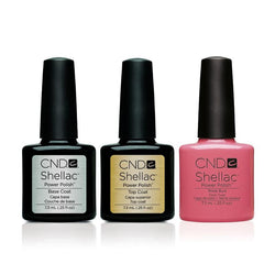 CND - Shellac Combo - Base, Top & Rose Bud-Beyond Polish