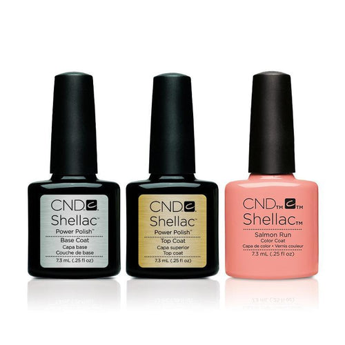 CND - Shellac Combo - Base, Top & Salmon Run-Beyond Polish