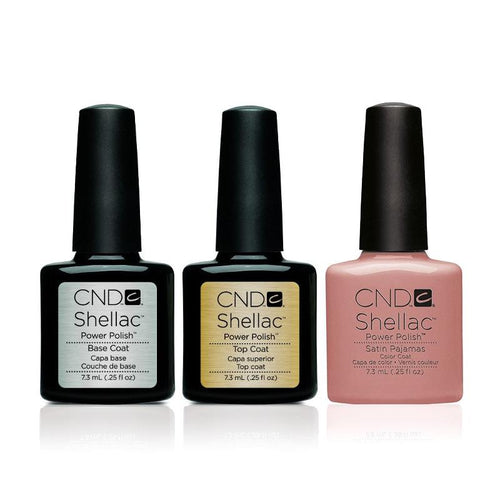 CND - Shellac Combo - Base, Top & Satin Pajamas-Beyond Polish
