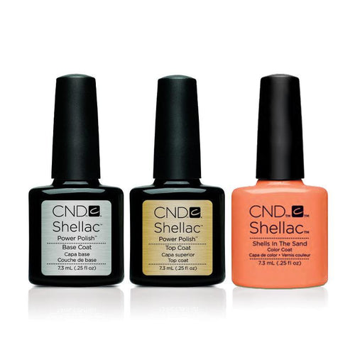 CND - Shellac Combo - Base, Top & Shells In The Sand-Beyond Polish