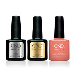 CND - Shellac Combo - Base, Top & Spear-Beyond Polish