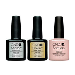 CND - Shellac Combo - Base, Top & Uncovered-Beyond Polish