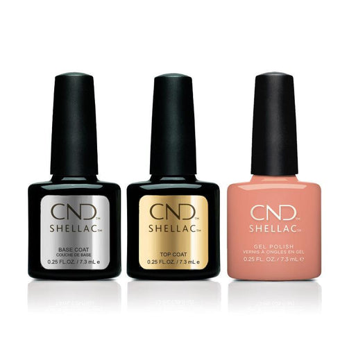 CND - Shellac Combo - Base, Top & Uninhibited-Beyond Polish