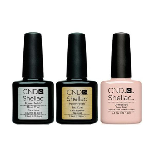CND - Shellac Combo - Base, Top & Unmasked-Beyond Polish