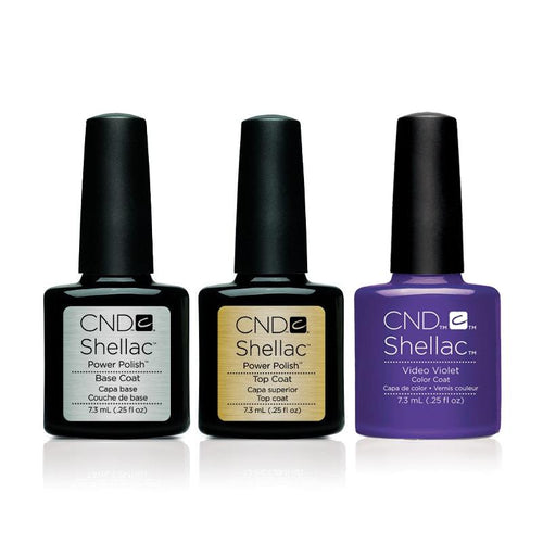CND - Shellac Combo - Base, Top & Video Violet-Beyond Polish