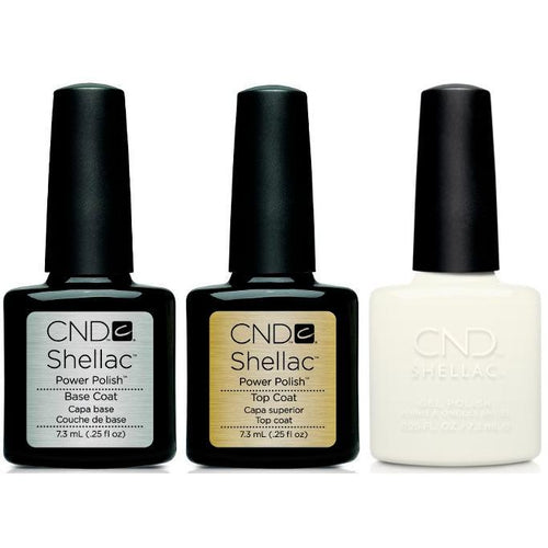 CND - Shellac Combo - Base, Top & White Wedding-Beyond Polish