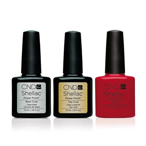 CND - Shellac Combo - Base, Top & Wildfire-Beyond Polish
