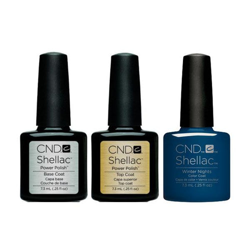 CND - Shellac Combo - Base, Top & Winter Nights-Beyond Polish