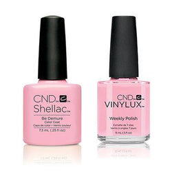 CND - Shellac & Vinylux Combo - Be Demure-Beyond Polish