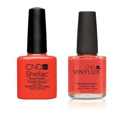 CND - Shellac & Vinylux Combo - Electric Orange-Beyond Polish