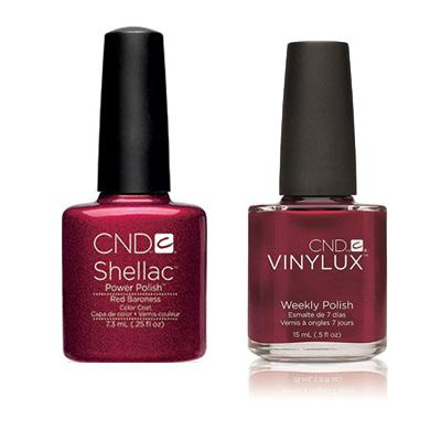 CND - Shellac & Vinylux Combo - Red Baroness-Beyond Polish