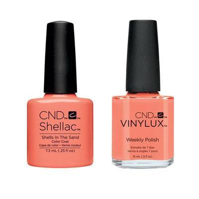 CND - Shellac & Vinylux Combo - Shells In The Sand-Beyond Polish