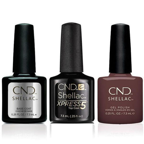 CND - Shellac Xpress5 Combo - Base, Top & Arrowhead (0.25 oz)-Beyond Polish