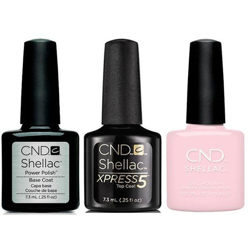CND - Shellac Xpress5 Combo - Base, Top & Aurora (0.25 oz)-Beyond Polish