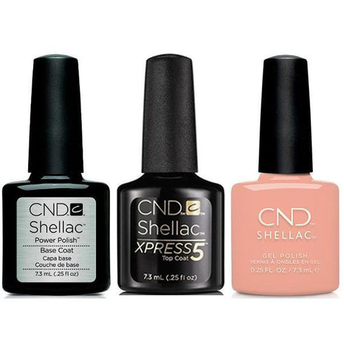 CND - Shellac Xpress5 Combo - Base, Top & Baby Smile (0.25 oz)-Beyond Polish