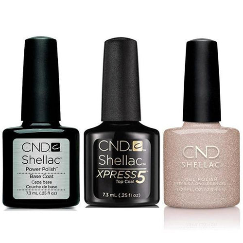 CND - Shellac Xpress5 Combo - Base, Top & Bellini (0.25 oz)-Beyond Polish
